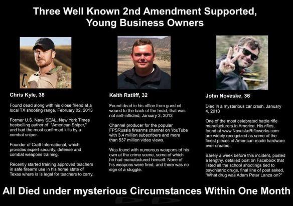 Obama Regime MURDERED These Men