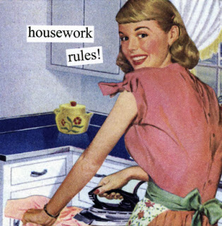 Image result for clean the kitchen, 1950s
