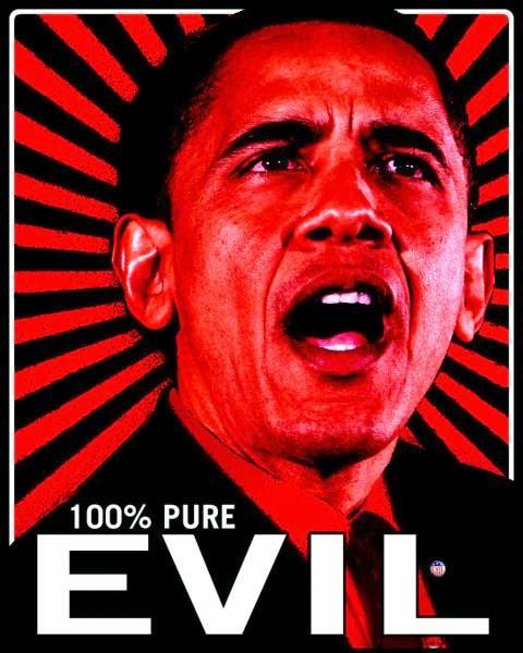 Give Us Liberty: BARACK HUSSEIN OBAMA: 100% EVIL...